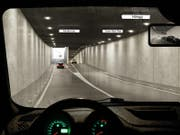 Visualisierung des zukünftigen Rosengartentunnels. (Bild: PD)