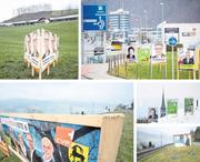 Impressionen von der Plakatschlacht im Kanton Nidwalden. (Bild: Urs Flüeler/Keystone)