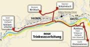 Die neue Trinkwasserleitung. (Bild: map)