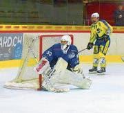 Rückhalt für den HC Luzern: Goalie Gregory Keller. (Bild: Michael Wyss)