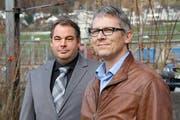 Ihre Behörden stehen häufig in der Kritik: Peter Leuenberger, Kesb Innerschwyz (links), und Mario Häfliger von der Kesb Ausserschwyz. (Bild: Rahel Lüönd)