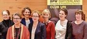Der neue Vorstand mit dem neuen Vereinsmitglied (v. l.): Beatrice Gasser, Claudia Gisler (bisher), Bea Kolvodouris Janett, Präsidentin Esther Heiz, Marina Lieber (bisher), Neumitglied Stephanie Walker, Kate Sommerauer. (Bild: PD)
