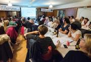 Über 100 Interessierte waren beim Start der Nein-Kampagne dabei. (Bild: PD)