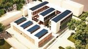 So soll das neue CVT-Schulhaus mit Werkplätzen dereinst aussehen. (Bild: Visualisierung PD)