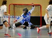 Goalie Micheline Müller (Bild: Stefan Kaiser)
