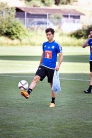 Trainierte gestern Nachmittag zum ersten Mal mit dem FCL: Neuzuzug Clemens Fandrich. (Bild Manuela Jans)