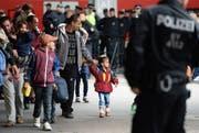 Flüchtlinge am Bahnhof in München im September 2015. (Bild: Keystone/DPA/Andreas Gebert)
