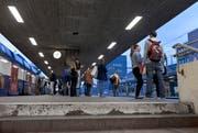 In der Nacht auf Sonntag ereignete sich am HB in Zürich ein Unfall. Im Bild: Der Hauptbahnhof in Zürich. (Symbolbild/ Keystone/ Gaetan Bally)