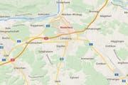 Das Mädchen wurde in Niederlenz (Markierung) getötet. (Bild: maps.google.ch)