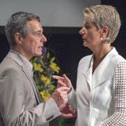 Kämpfen Ignazio Cassis und Karin Keller-Sutter bald gegeneinander um einen Bundesratssitz? (Bild: Lukas Lehmann/Keystone (Grenchen, 24. Juni 2017))