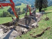 Dank Erfahrungen aus der ersten Etappe der Sanierung der Wiesenbergstrasse will der Kanton die weiteren Arbeiten beschleunigen. Archivbild: PD (Archivbild: PD)