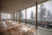 Blick ins und aus dem Spa im Hotel-Resort. (Bild: Pius Amrein (Bürgenstock, 7. November 2017))