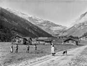 Auf dem Urnerboden ging es vor mehr als hundert Jahren, um 1900, noch beschaulicher zu und her als heute. (Bild Michael Aschwanden)