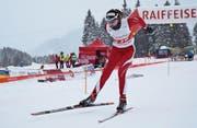 Auf dem Weg zum Sieg in der Challenger-Kategorie der Ältesten: Lara Berwert aus Stalden. (Bilder: Lars Kiser (Langis-Glaubenberg, 16. Dezember 2017))