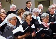 Der Kirchenchor Sins konzertierte am Sonntag in der Kirche Maria Geburt. (Bild: Werner Schelbert (Sins, 10. Dezember 2017))