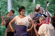 Die Flamenco-Tänzerin Estefania Sanchez bei ihrem Auftritt in Giswil. (Bild: Pius Amreih / Neue LZ)