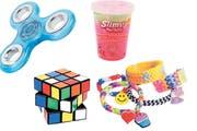 Fidget Spinner, Slime, Rubik Cube und Rainbow Looms. Sie alle wurden zu Spielzeug-Hits auf der ganzen Welt. (Bilder: PD)