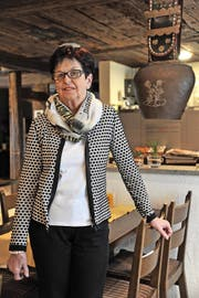 Annemarie Zurfluh-Stadler bedient ihre Gäste im Restaurant Trögli bereits seit 45 Jahren. (Bild: Urs Hanhart (Altdorf, 28. November 2016))