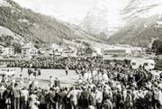 Eindrücklich: die Seilzieh-Arena anlässlich der Europameisterschaft 1974 in Engelberg vor herrlicher Kulisse. (Bilder: PD)