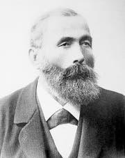 1871 kauft der Obwaldner Hotelpionier Franz Josef Bucher-Durrer (Bild) die Alp Tritt auf dem Bürgenberg und eröffnet 1873 das Grand Hotel, 1888 die Bürgenstockbahn, 1904 das Hotel Palace, 1905 den Felsenweg. (Bild: PD)
