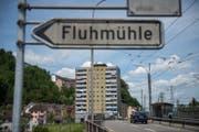 Im Quartier Fluhmühle leben viele sozial schwächere Menschen. Im Hintergrund ist das Hochhaus an der Lindenstrasse zu sehen. (Bild: Dominik Wunderli (Luzern, 23.5.2017))
