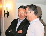 Hans Wicki (links) im Gespräch mit Peter Keller. (Bild: Markus von Rotz (Stans, 17. Juni 2017))
