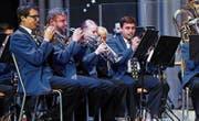 Das Konzert der BB MG Oberrüti verlangte von den Musikanten grösste Konzentration. (Bild: Werner Schelbert (Oberrüti, 11. November 2017))