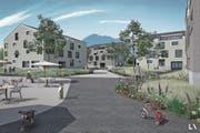 Visualisierung des Siegerprojekts für das Alterszentrum Buochs. (Bild: Visualisierung PD)