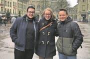 Sandro Bucher, Medea Sarbach und Jonas Feldmann (v. l.). (Bild: PD)