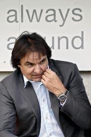 Hat den Schneuwly-Transfer vorerst auf Eis gelegt: Sion-Präsident Christian Constantin. (Bild: Keystone/Alexandra Wey)