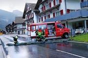 Feuerwehreinsatz nach dem schweren Unwetter im Muotathal vom 25. Juni (Bild Werner Schelbert)