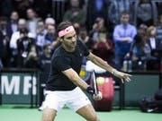 Roger Federer ist in Rotterdam furios gestartet (Bild: KEYSTONE/EPA ANP/KOEN SUYK)
