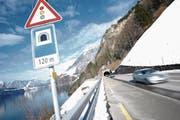 Im Gebiet Gumpisch geht der Sisikoner Tunnel dereinst in den Berg. (Bild: Urs Hanhart (14. Februar 2018))