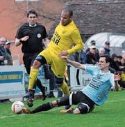 Erzielte gegen Malters zwei Treffer: der Altdorfer Goalgetter vom Dienst, Calderon Mavembo (links).