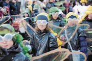 Schüler lancieren die Altdorfer Fasnacht 2018 (Bild: Urs Hanhart (Altdorf, 30. Januar 2018))