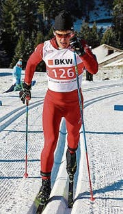 Andrin Näpflin hat technisch grosse Fortschritte gemacht. (Bild: M. Arnold (Steg, 14. Januar 2018))