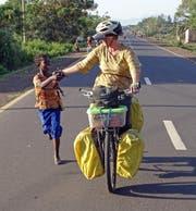 Monika Estermann auf der Fahrt durch Äthiopien. (Bild: PD)