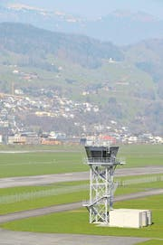 Der Flugplatz Buochs: Ende Monat Thema im Landrat. (Archivbild: Geri Wyss/NZ)