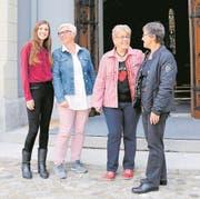 Vier Frauen, denen die Kirche am Herzen liegt (von links): Jacqueline Straub, Moni Amstutz, Theres Odermatt und Margrit Odermatt. (Bild: Carina Odermatt (Ennetbürgen, 17. September 2017))