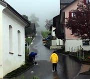 Viel Wasser im Ried ob Schwyz. (Bild: Leserbild Bote der Urschweiz)