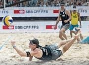 Gerettet: Das Beachvolleyball-Turnier beim Luzerner Lido kann diesen Mai stattfinden. (Bild: Pius Amrein (Luzern, 17. Mai 2015))