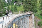 Zeitzeugin aus den Anfängen der Bergbahngeschichte: die Unterstetten-Brücke. (Bild: Erhard Gick)