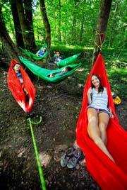 Geschlafen wird in der Hängematte oder im Zelt. (Bild Corinne Glanzmann)