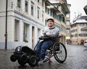Der Chamer Jahn Graf sieht sich nicht als politisch, sonder als Aktivist. (Bild: Stefan Kaiser (Zug, 4. Dezember 2017))