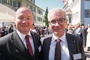Nationalratspräsident Jürg Stahl und Ständerat Erich Ettlin. (Bild: Romano Cuonz (Obwaldner Zeitung))