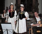 Die Geschwister Rymann präsentierten in Giswil ihre neue CD «Liäbi Tön». (Bild: Monika van de Giessen (Giswil, 28. Januar 2018))
