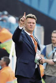 Louis van Gaal als holländischer Nationaltrainer an der WM in Brasilien. (Bild: Keystone (São Paulo, 23. Juni 2014))