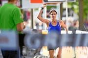 Geschafft: Patricia Morceli beendet ihre lange Leidenszeit mit einem Sieg. (Bild: Swiss-Image.ch/Valeriano DiDomenico)