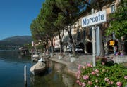 Schiffsanlegestelle am Ufer des Lago di Lugano. (Bild: Pablo Gianinazzi / Keystone)