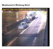 Rückstau vor dem Mosi-Nordportal. (Bild: Webcam)